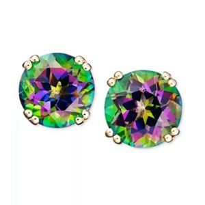 Macy's 14k Gold Mystic Topaz Stud Earrings